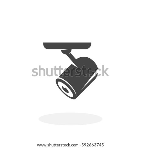 Security Camera Icon Illustration Isolated On Stock Vector 592663745
