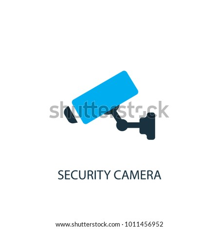 Security Camera Icon Logo Element Illustration Stock Vector