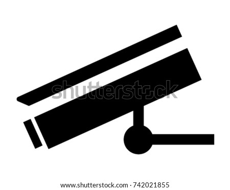 Security Camera Icon Safety Symbol Flat Stock Vector 742021855