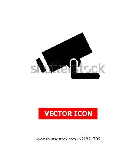 Security Camera Vector Icon Cctv Stock Vector 621821705 Shutterstock