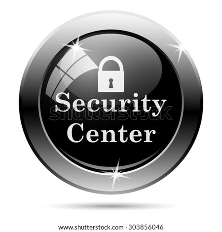 Security center icon. Internet button on white background. EPS10 vector