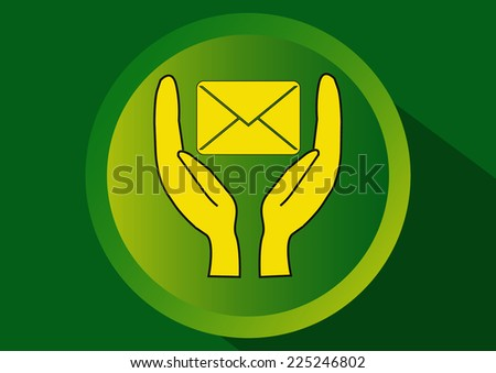 Security correspondence confidentially - stock vector