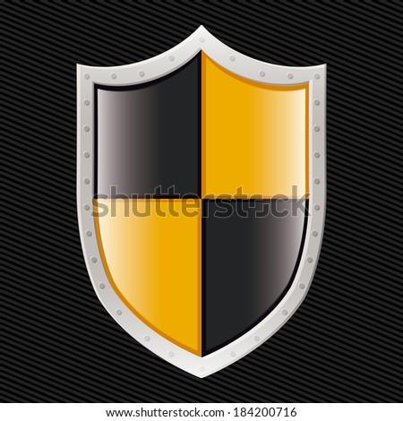 Security design over black background, vector illustration - stock vector