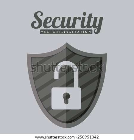 Security design over gray background, vector illustration. - stock vector