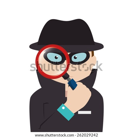 Security design over white background, vector illustration. - stock vector
