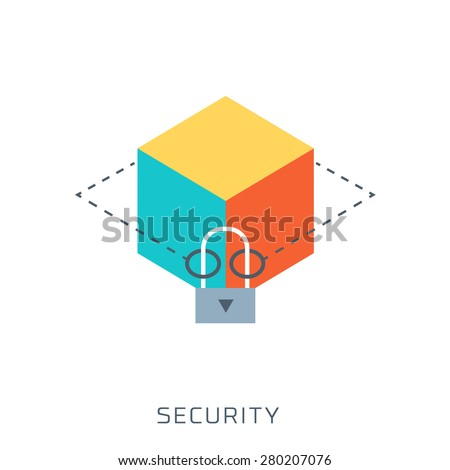 Security, flat style, colorful, vector icon for info graphics, websites, mobile and print  media. - stock vector