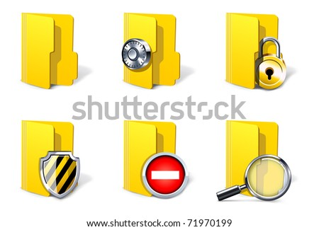 Security folders | Bella series - stock vector