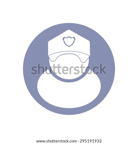 Vector Illustration Modern Police Hat Icon Stock Vector ...
