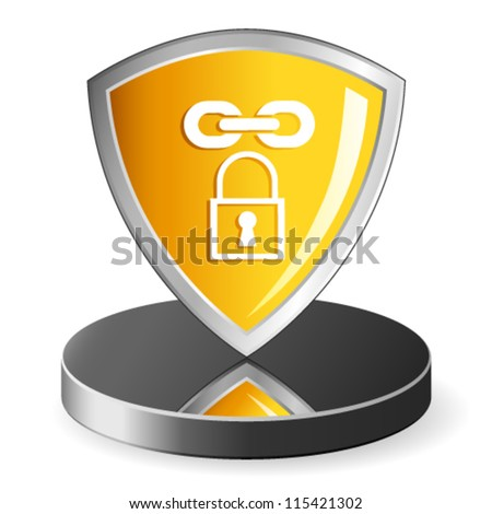 security icon - vector illustration - stock vector