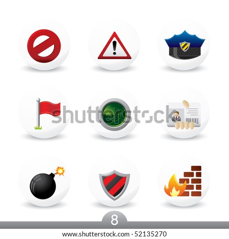 Security icons...series 8 - stock vector
