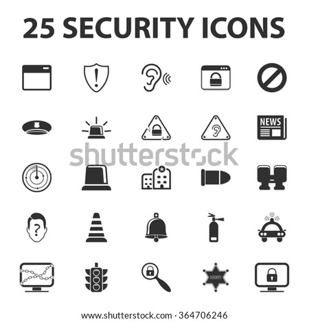 Security icons set.