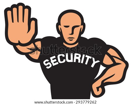 security man of nightclub (security guard of nightclub, bouncer) - stock vector