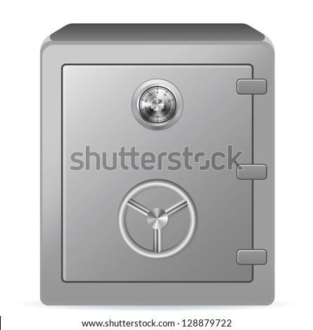 Security metal safe. Vector illustration EPS-10. - stock vector