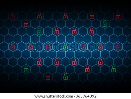 Security privacy concept , Vector illustration - stock vector