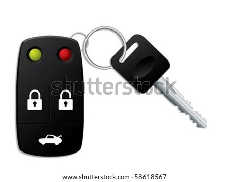 Security remote control for your car - stock vector