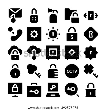 Security Vector Icons 2 - stock vector