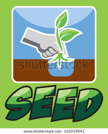 SEED AND PLANT - stock vector