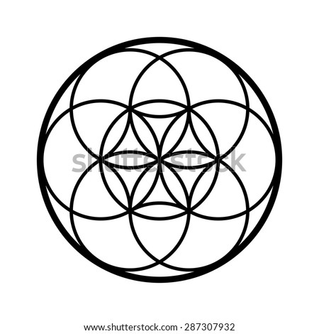 seed life vector sacred geometry symbol stock vector 2018 rh shutterstock com sacred geometry vector free download sacred geometry vectors royalty free vectors