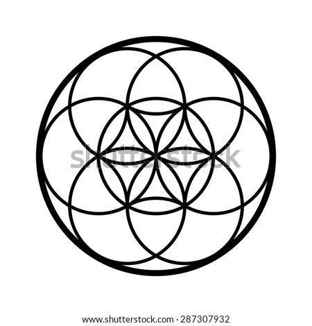 seed life vector sacred geometry symbol stock vector 2018 rh shutterstock com sacred geometry vector free sacred geometry vectors royalty free vectors