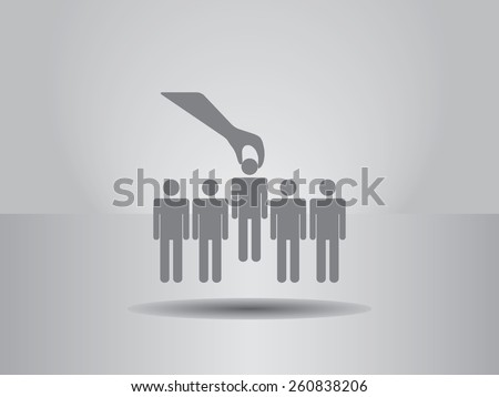 Select  icon. vector illustration. Flat design style. - stock vector