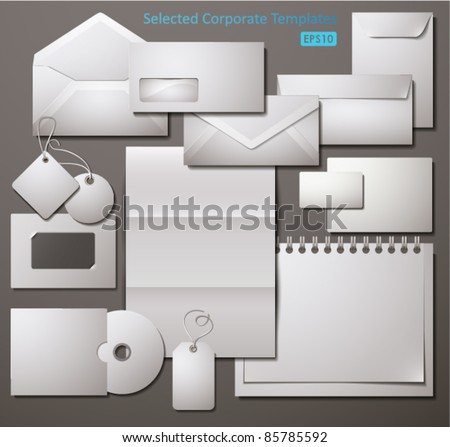 Selected Corporate Templates. Vector Illustration. - stock vector