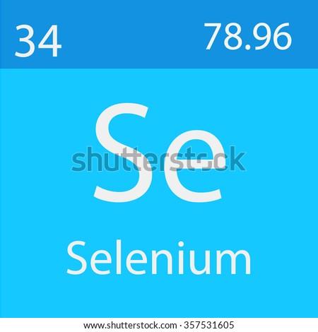 Selenium Chemical Symbol Stock Vector 357531605 Shutterstock