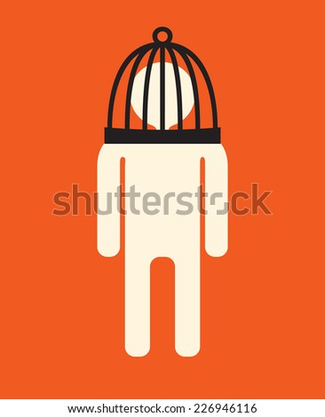 self restrictions -   restraint imposed on the self - stock vector