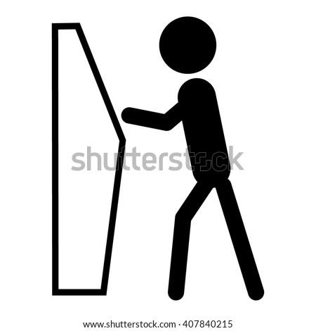 Self Service Checkin Icon Stock Vector 407840215 Shutterstock
