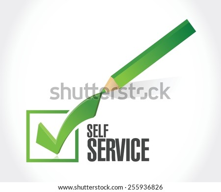 self service check mark illustration design over a white background - stock vector