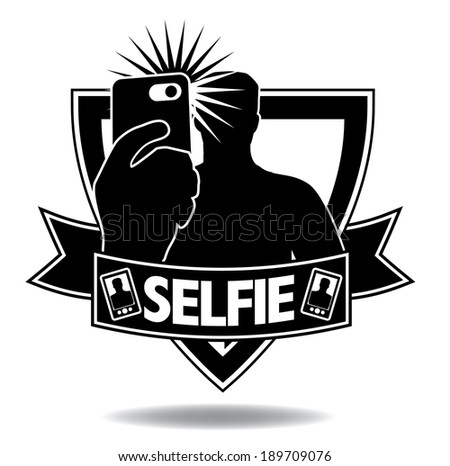 Selfie icon. EPS 10 vector, grouped for easy editing. No open shapes or paths. - stock vector