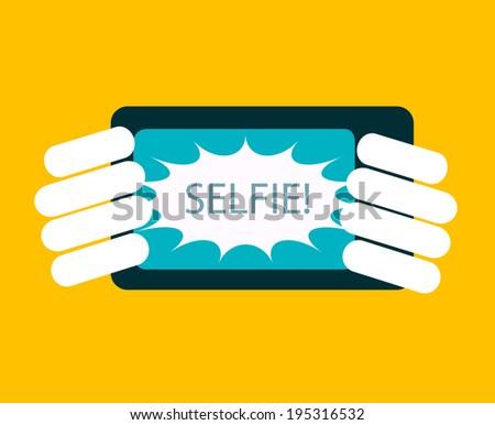 Selfie icon, vector illustration - stock vector