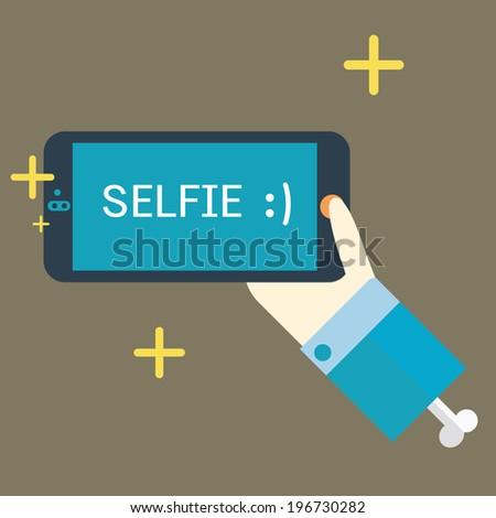 selfie,vector,illustration. - stock vector