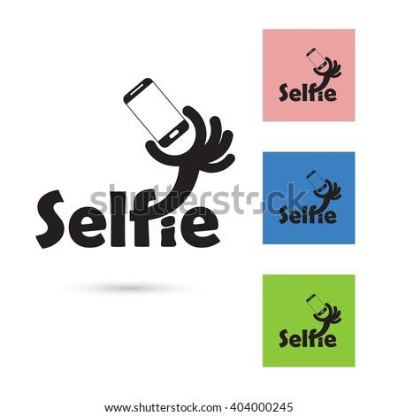 selfie word logo elements designtaking selfie stock vector 404000245 shutterstock. Black Bedroom Furniture Sets. Home Design Ideas