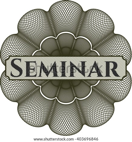 Seminar inside a money style rosette - stock vector