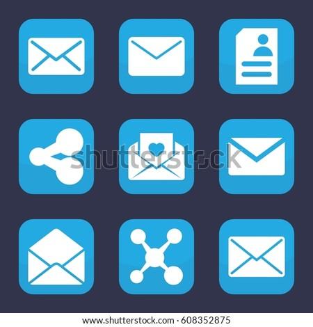 Send Icon Set 9 Filled Send Stock Vector 608352875 - Shutterstock