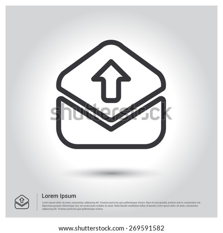 Send Mail icon, vector illustration. Flat design style  - stock vector