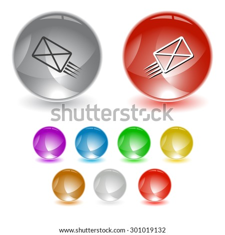 send mail. Vector interface element. - stock vector