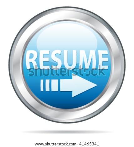 Send resume application website button. Vector illustration. - stock vector