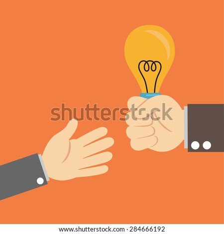 sending support light bulb - stock vector