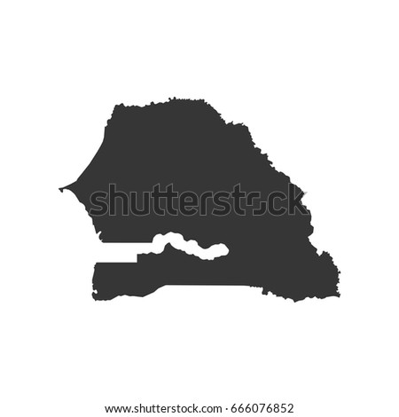 Vector Map Senegal Isolated Vector Illustration Stock Vector - Senegal map vector