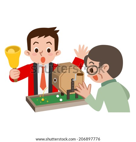 Senior man who won the lottery - stock vector