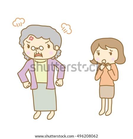 Senior woman who has become angry