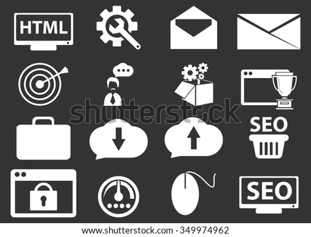 SEO and Development symbol for web icons