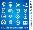 Seo and internet icons vector set 1 - stock vector