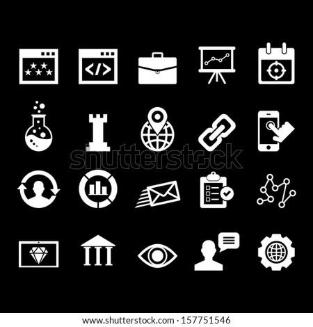 SEO icon set - stock vector
