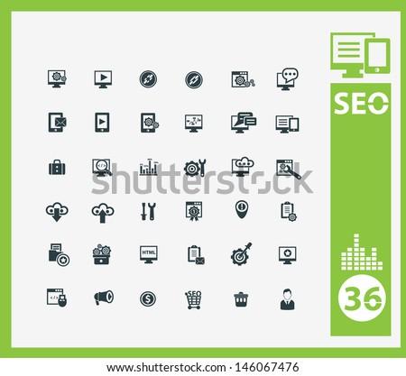 SEO icon set,vector - stock vector