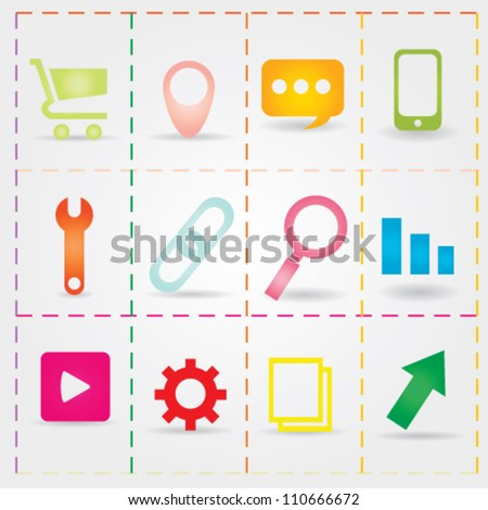 SEO Icon Vector Set Collection - stock vector