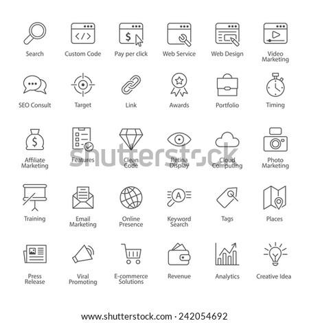SEO icons - stock vector