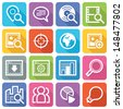 SEO Icons Set 1 - Flat Series - stock photo
