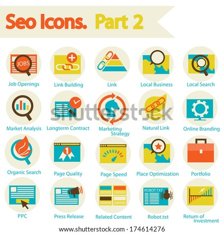 SEO icons set part 2 - stock vector